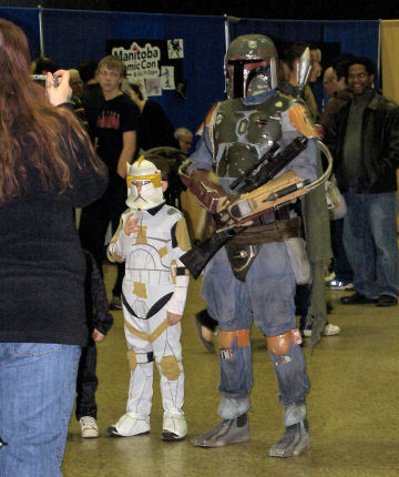 Boba Fett and a young Commander Cody