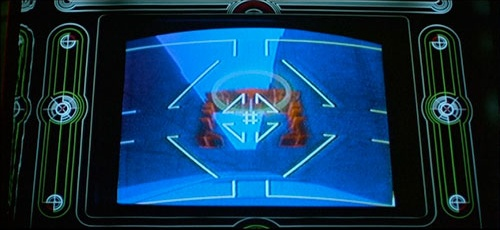 Space Paranoids video game screenshot from 1982 movie Tron