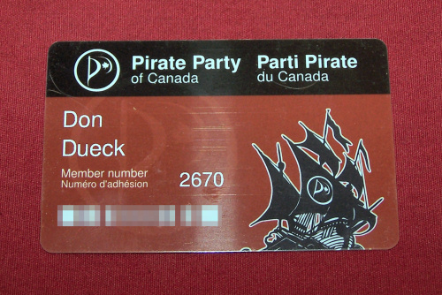 My Pirate Party Card