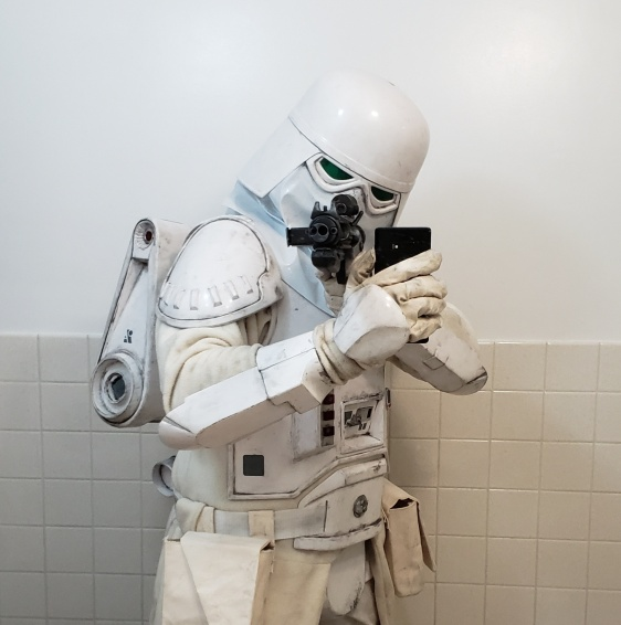 Snowtrooper costume - Oct 30, 2018